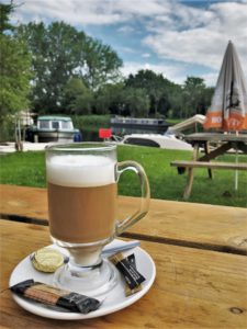 My free coffee by the river