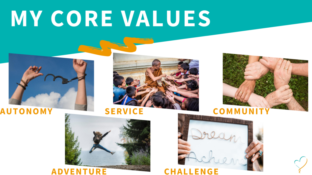 My top 5 core values